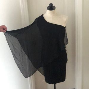 Zara TRF black one shoulder tight dress size M